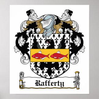 Rafferty Family Crest Poster