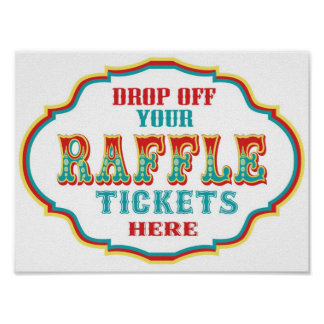 Raffle Ticket Booth Sign