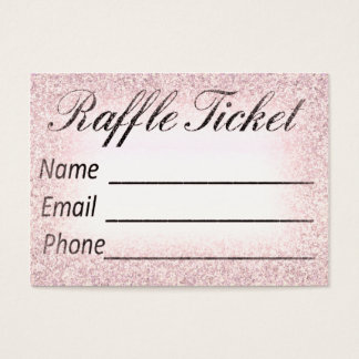Raffle Ticket Invitation Insert