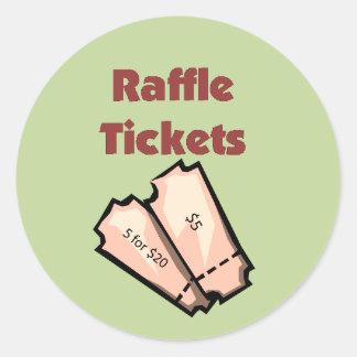 Raffle Ticket Stickers