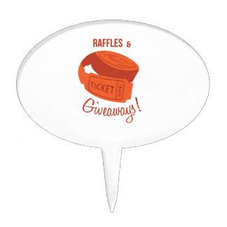 Raffles & Giveaways! Cake Topper