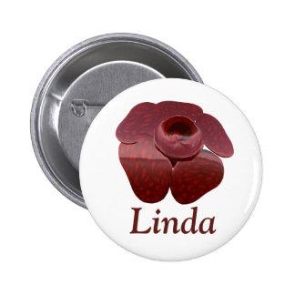 Rafflesia Button Badge Personalized