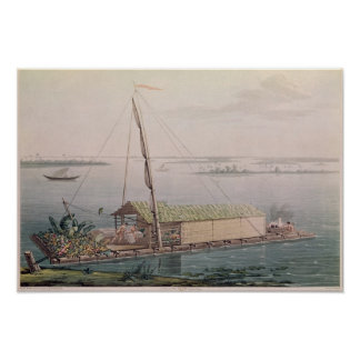 Raft on the Guayaquil River Print