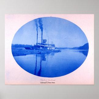 "Raftboat ""Ten Brook"", 1885 Poster"