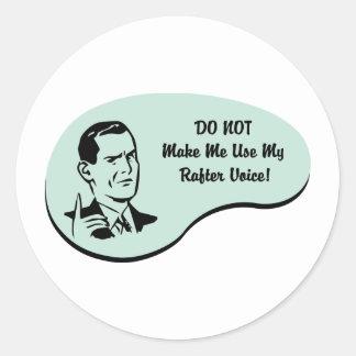 Rafter Voice Classic Round Sticker