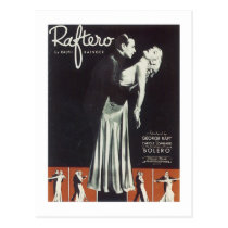 Raftero Vintage Songbook Cover Postcard