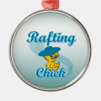 Rafting Chick #3 Metal Ornament