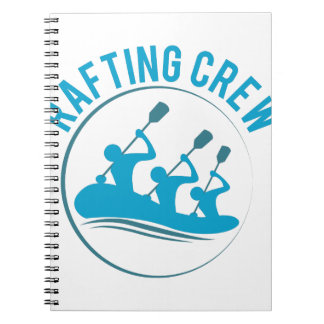 Rafting Crew Spiral Notebooks