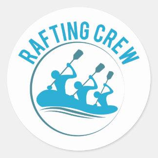 Rafting Crew Classic Round Sticker