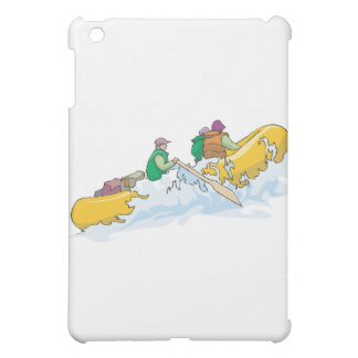rafting in the rapids whitewater graphic cover for the iPad mini