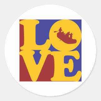 Rafting Love Classic Round Sticker