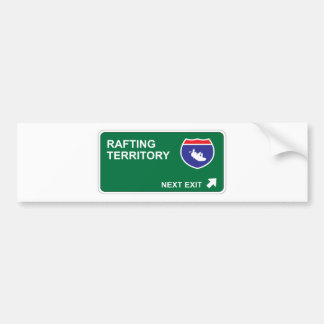 Rafting Next Exit Bumper Sticker