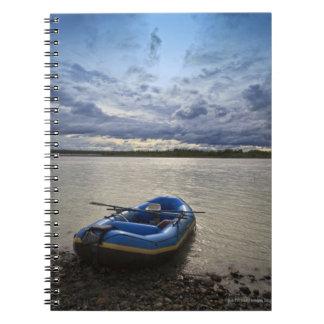 Rafting on Talkeetna River, Alaska Spiral Notebook