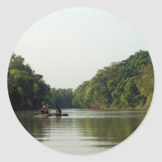 Rafting on the Mae Ping Round Sticker