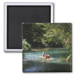Rafting on the Martha Brae River, Falmouth, 2 Inch Square Magnet