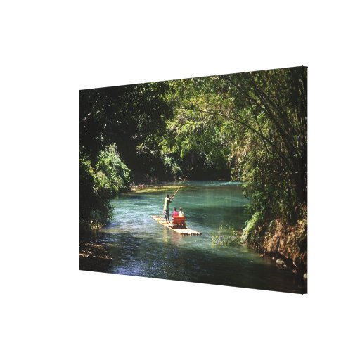 Rafting on the Martha Brae River, Falmouth, Stretched Canvas Prints