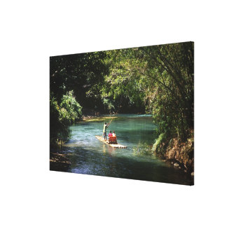Rafting on the Martha Brae River, Falmouth, Canvas Print