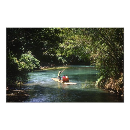 Rafting on the Martha Brae River, Falmouth, Photo Print