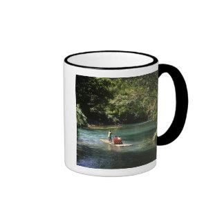 Rafting on the Martha Brae River, Falmouth, Ringer Mug