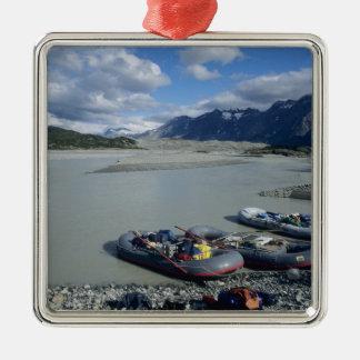 Rafting the Alsek River downstream Christmas Ornament