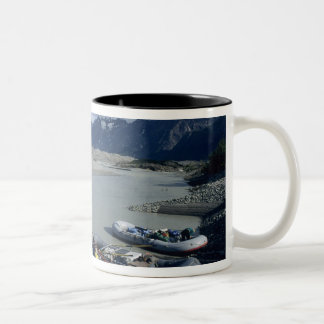 Rafting the Alsek River downstream Two-Tone Coffee Mug