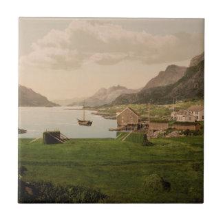 Raftsund de Digermulen, Lofoten, Noruega Azulejo Cuadrado Pequeño