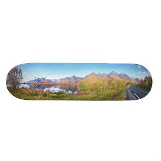 Raftsundet & Mountains Trolltinden Hinnoya Norway Skateboard Deck