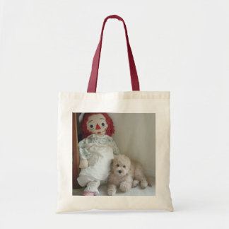 Rag Doll and Sweet Cockapoo Puppy Tote Bag