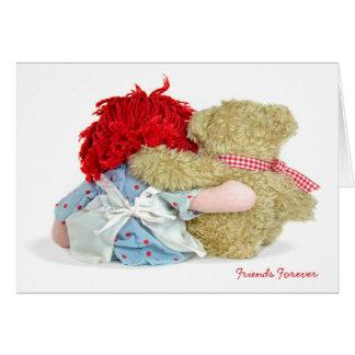 Rag Doll and Teddy Bear Greeting Cards