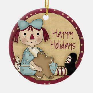 Rag Doll Christmas Ornament