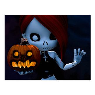 Rag Doll Halloween Postcard