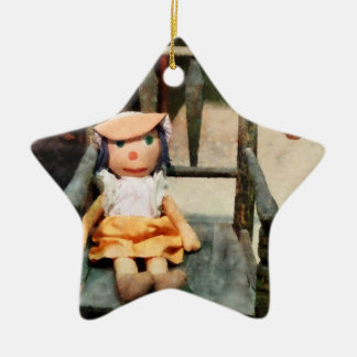 Rag Doll in Chair Christmas Ornament
