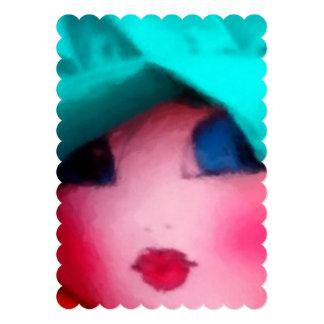 Rag Doll in Teal Bonnet Card