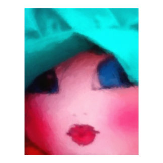 Rag Doll in Teal Bonnet Letterhead