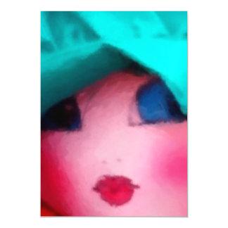 Rag Doll in Teal Bonnet Magnetic Card