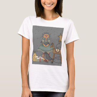 Rag Doll Primitive Horse Crow Tin Star Candles T-Shirt