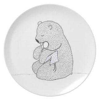 Rag Doll Teddy Melamine Plate