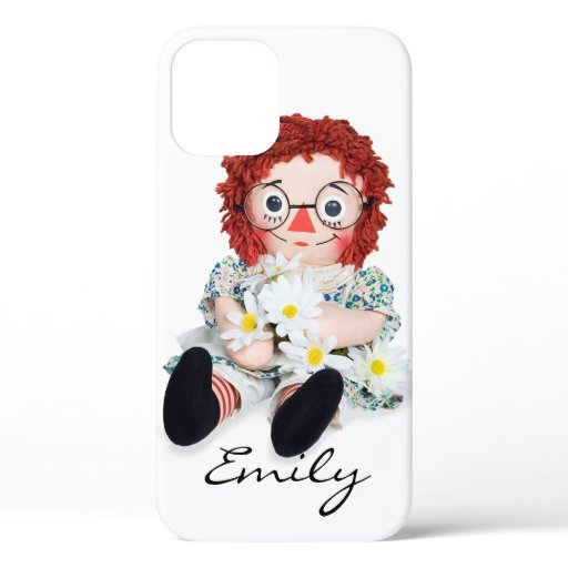 Rag Doll with daisies iPhone 12 Case