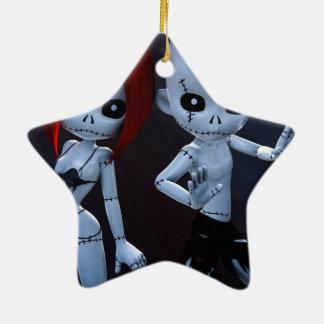 Rag Dolls Couple Christmas Ornaments