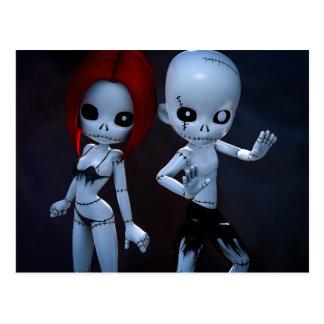 Rag Dolls Couple Postcard