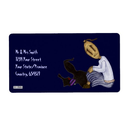 Rag Dolls - The Girl With The Spinning Top Personalized Shipping Labels