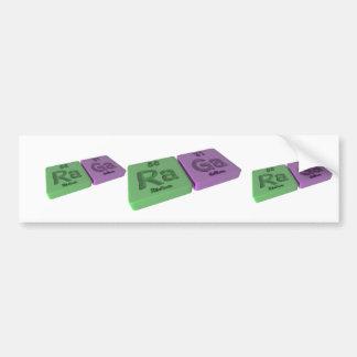 Raga as Ra Radium and Ga Gallium Bumper Sticker