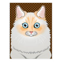 Ragamuffin Cat Cartoon Paws Postcard