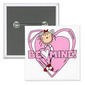 Ragdoll Be Mine Valentine Button