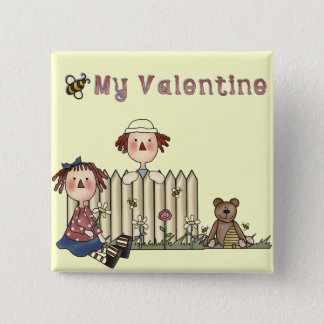 Ragdoll Bee My Valentine tshirts and Gifts Button