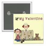 Ragdoll Bee My Valentine tshirts and Gifts Pin