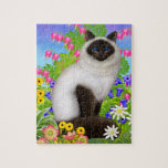 Ragdoll Birman Cat in Flowers Puzzle