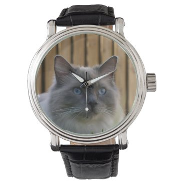 USA Themed Ragdoll,_blue Wristwatch