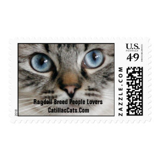 Ragdoll Breed Cat Stamp, Catillac Cats Postage Stamp