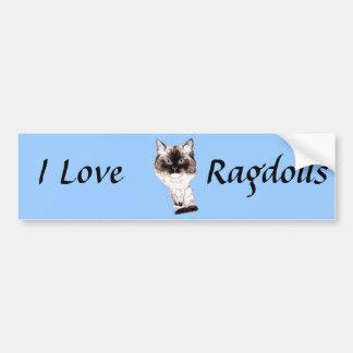 Ragdoll Caricature Bumper Sticker